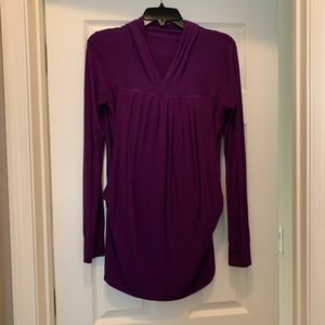 Purple Maternity Top with a hoodie